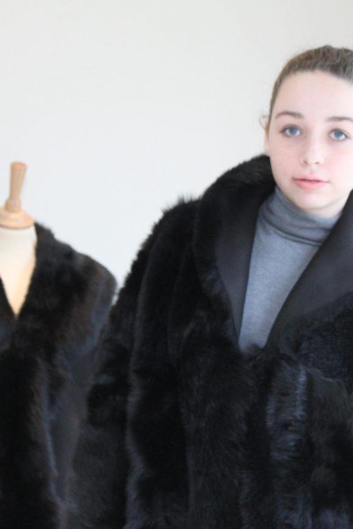 Black Toscana Coat