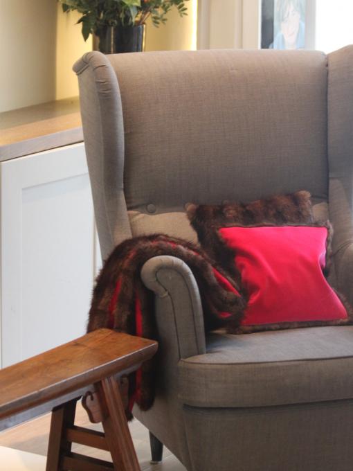 Vintage Fur Cushion