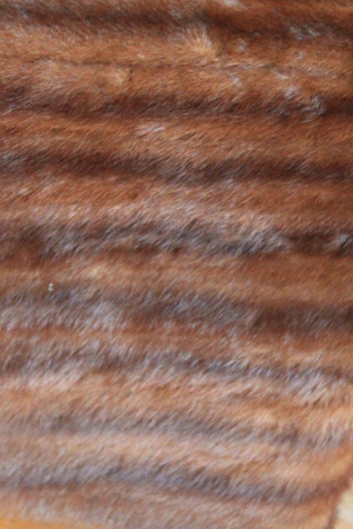 Tangerine Vintage Fur & Velvet Cushion