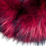 Medium Red Racoon Fur Collar