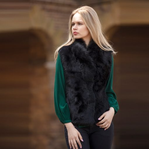 Tiffany Classic Reversible Black Sheepskin Gilet