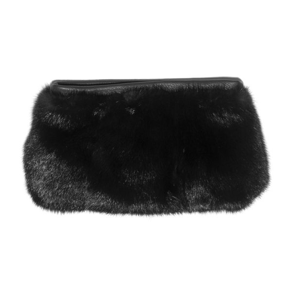 Limited Edition Vintage Black Mink Fur Clutch