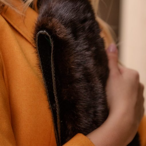 Vintage Brown Mink Fur Clutch
