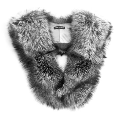 Large Silver Fox Fur Collar