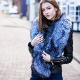 Large Silver Fox Fur Collar