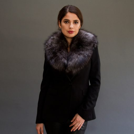 Medium Silver Fox Fur Collar