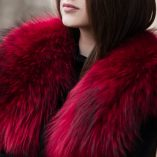Large Red Raccoon Fur Collar