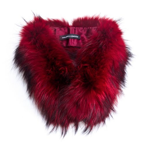 Small Red Racoon Fur Collar