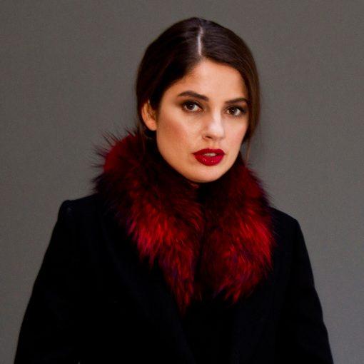 Small Red Raccoon Fur Collar