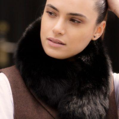 Jessica Small Brown Fox Fur Collar / Headband