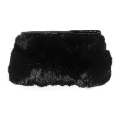 Limited Edition Vintage Black Mink Fur Clutch