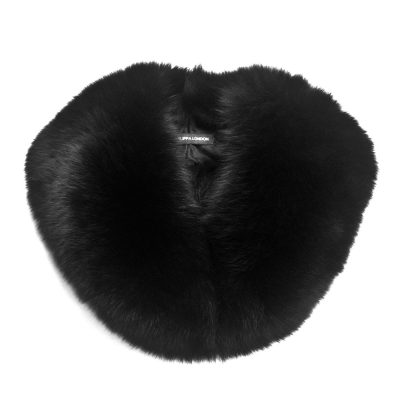 Medium Black Fox Fur Collar