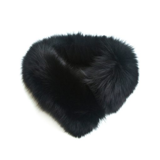 Small Black Fox Collar and Headband