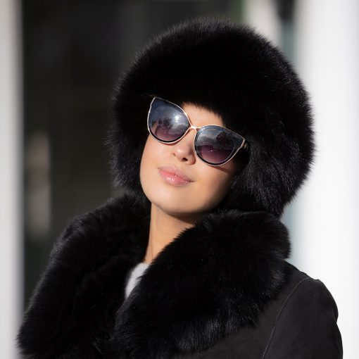 Jessica Small Black Fox Fur Collar / Headband