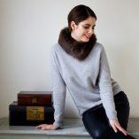 Small Brown Fox Fur Collar / Headband