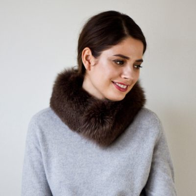 Small Brown Fox Fur Collar / Headband