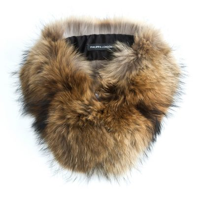 Small Natural Raccoon Fur Collar