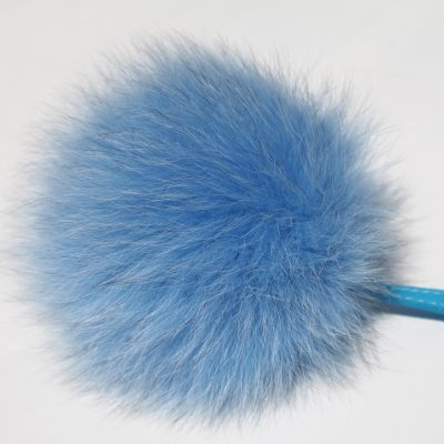 Powder Blue Fox Fur Pom Pom