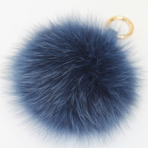 Nightnight Navy Blue Fox Fur Pom Pom
