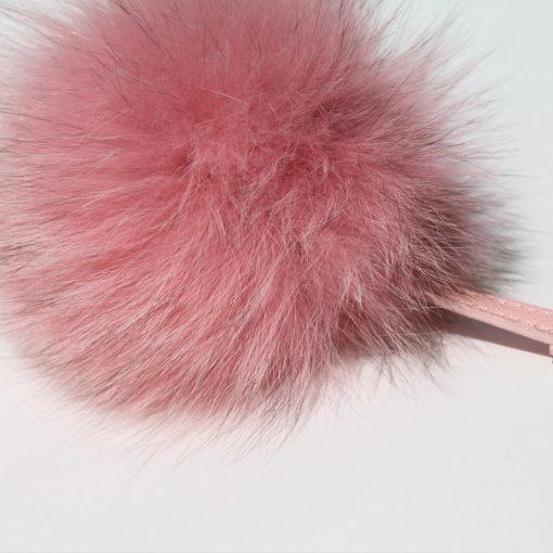 Baby Pink Fox Fur Pom Pom