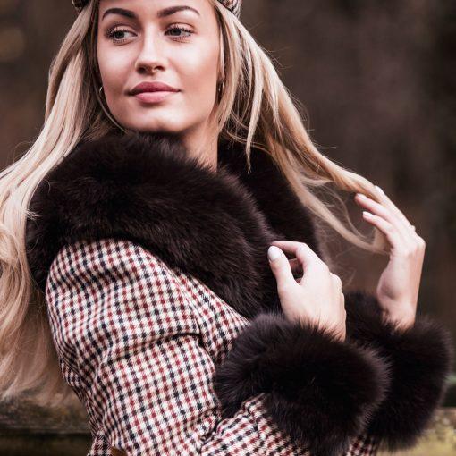 Medium Brown Fox Fur Collar