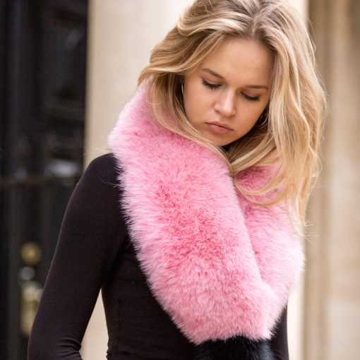 Pink Fox and Tail Collar