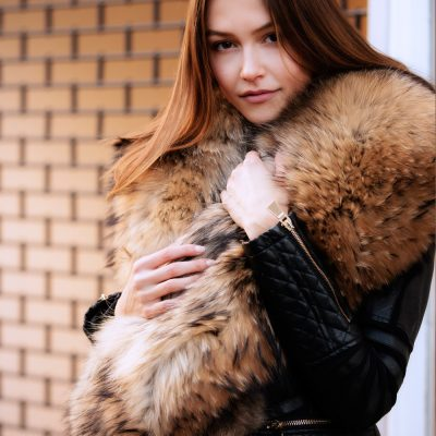 Large Finn Natural Raccoon Fur Collar