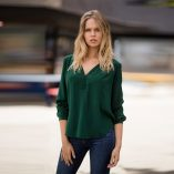 Bottle Green Molly Silk Crepe Blouse