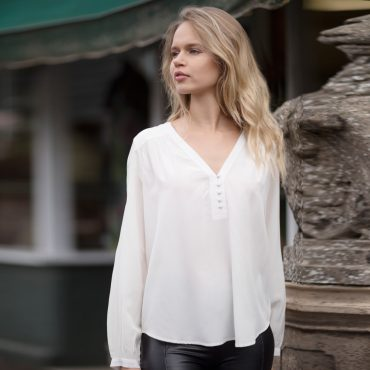 Cream Molly Silk Crepe Blouse