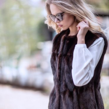 Molly Cream Silk Shirt & Fur Gilet