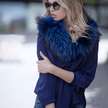 Sapphire Blue Molly Silk Crepe Blouse