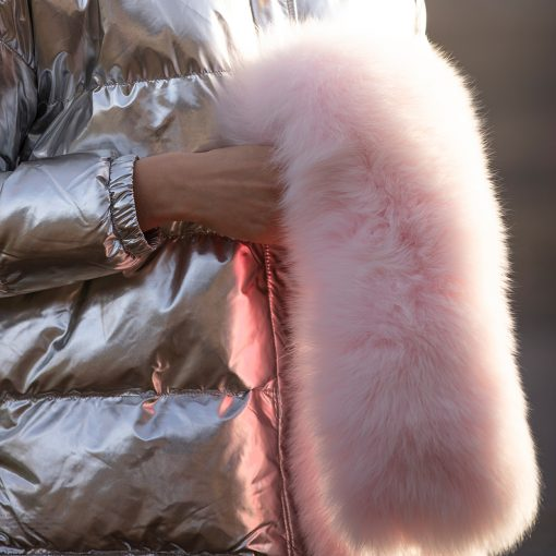 Tilly Pink Fox and Tail Fur Collar