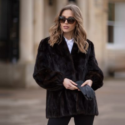 Cathy Dark Brown Vintage Mink Fur Jacket