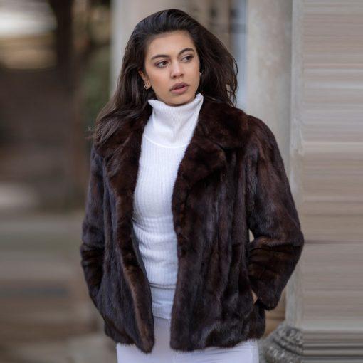 Genuine Vintage Brown Mink Fur Jacket