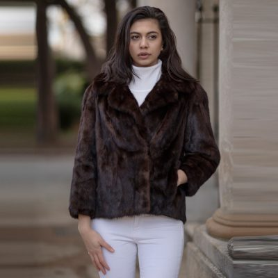 Genuine Vintage Brown Mink Fur Jacket