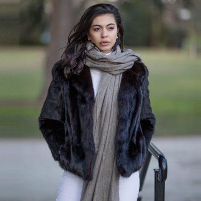 Vintage Genuine Black Mink Fur Jacket