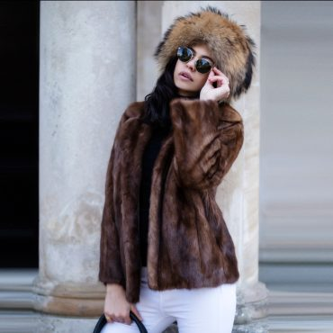 Genuine Vintage Mink Fur Jacket