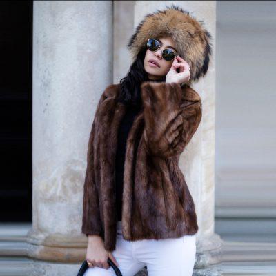 Genuine Vintage Mink Fur Jacket