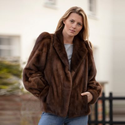 Clara Toffee Brown Vintage Mink Fur Jacket