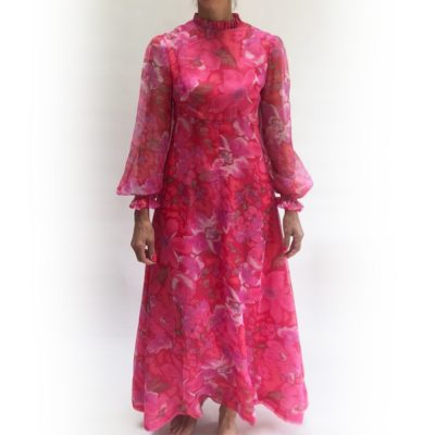 Emma 1960's Vintage Floral Maxi Dress
