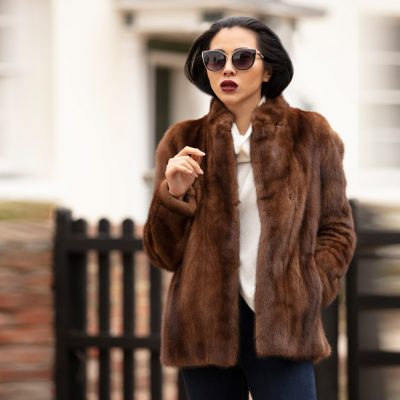 Josephine Toffee Brown Vintage Mink Fur Jacket