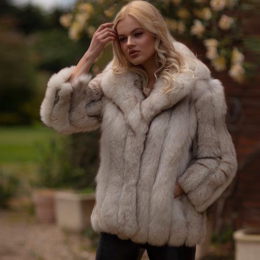 Zara White Artic Fox Vintage Fur Jacket