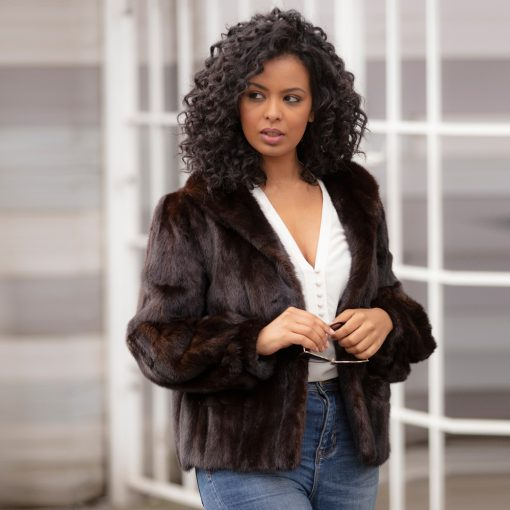 Dior Dark Mink Vintage Fur Jacket