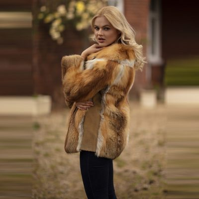 Ava Vintage Red Fox Fur Jacket