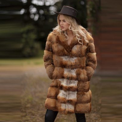 Stella Vintage Red Fox Fur Coat
