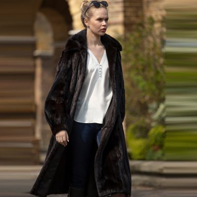 Chanel Dark Mink Vintage Fur Coat