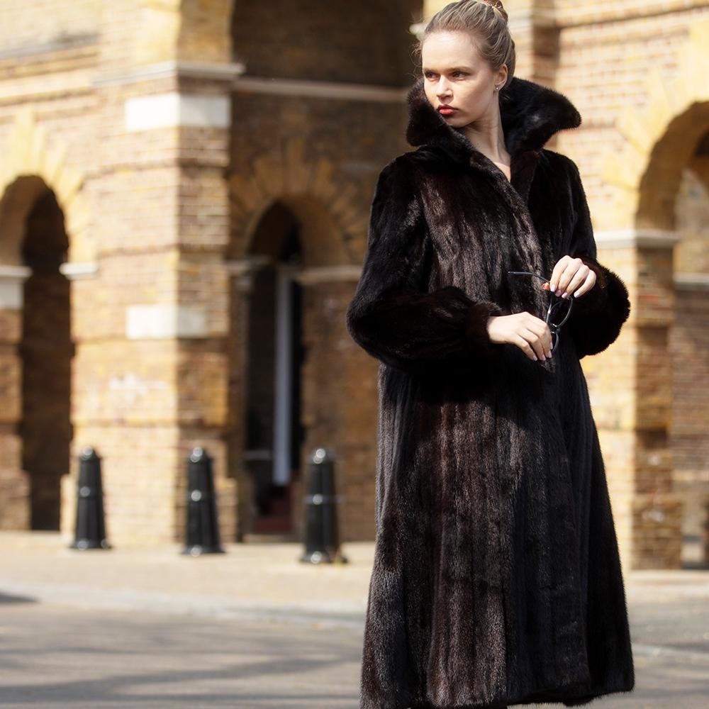 Chanel Dark Mink Vintage Fur Coat