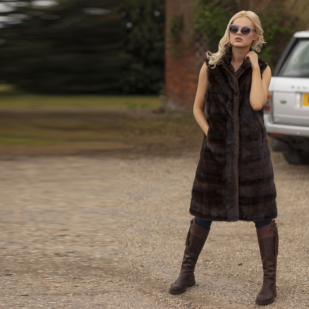 Cindy Vintage Mink Gilet coming in AW19