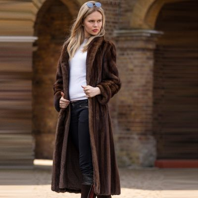 Olga Vintage Honey Brown Vintage Mink Fur Coat