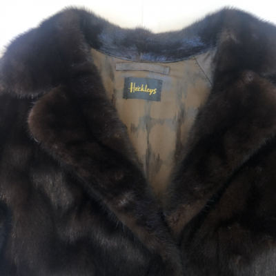 Jess Vintage Mink Dark Brown Fur Jacket